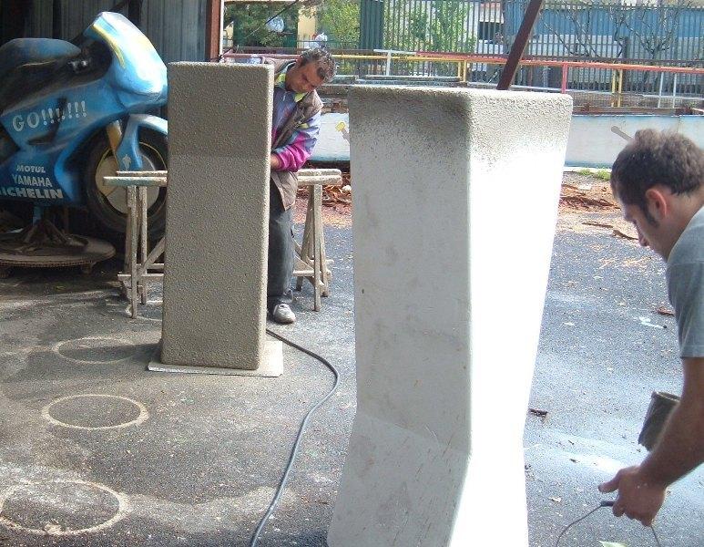 ... polistirolo trattati con materiale indurente sculture in polistirolo
